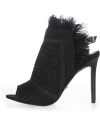 TOPSHOP - Russia Feather Trim Sandals - Lyst