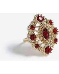 TOPSHOP - mega Crystal Ring - Lyst