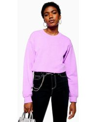 TOPSHOP - Ashed Neon Sweatshirt - Lyst