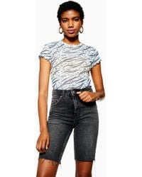 3ff8dd9d9c88 TOPSHOP Aaliyah Mesh T-shirt By And Finally in White - Lyst