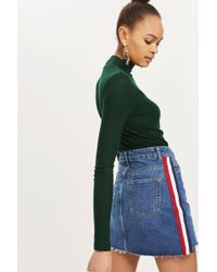 TOPSHOP - Petite Side Striped Skirt - Lyst