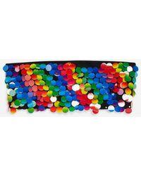 Jaded London - Rainbow Sequin Bandeau Crop Top By Jaded - Lyst