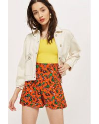 TOPSHOP - Ditsy Floral Shorts - Lyst