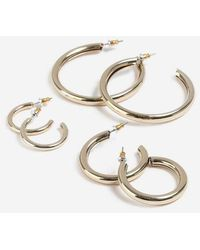 TOPSHOP - Thick Hoop Earrings Pack - Lyst