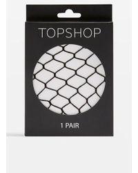 TOPSHOP - Super Size Fishnets - Lyst