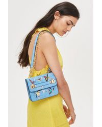 TOPSHOP - Bird Embroidered Cross Body Bag - Lyst