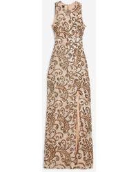 37e3ca333f0c5 Club L Sleeveless Sequin Maxi Dress By in Metallic - Lyst
