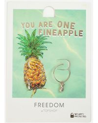 TOPSHOP - Mini Pineapple Hoops - Lyst