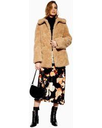 TOPSHOP - Tall Teddy Bear Coat - Lyst