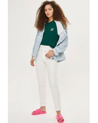TOPSHOP - White Mom Jeans - Lyst