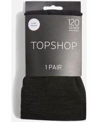TOPSHOP - 120 Denier Opaque Tights - Lyst