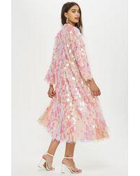 TOPSHOP - Sequin Maxi Kimono - Lyst