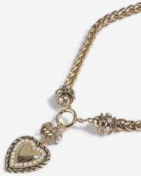 TOPSHOP - heart Drop Necklace - Lyst