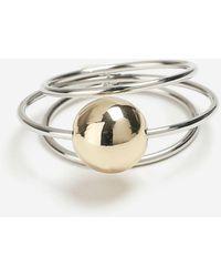 TOPSHOP - Ball Orbit Ring - Lyst