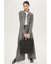 TOPSHOP - Premium Leather Miyah Tote Bag - Lyst