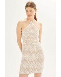 Wyldr - harlem Ivory Square Lace Mini Dress By - Lyst