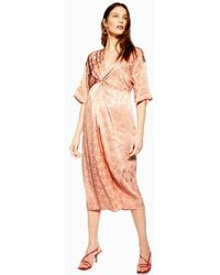a3ab5c0a95 TOPSHOP Tall Leopard Print Shirt Dress - Lyst
