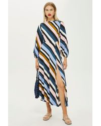 TOPSHOP - Striped Open Back Dress - Lyst
