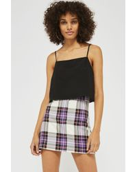 TOPSHOP - Crop Square Neck Camisole Top - Lyst