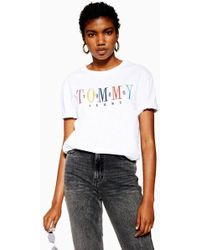 1df3b6469 Tommy Hilfiger Tommy Jean 90s Capsule 5.0 Long Sleeve T-shirt With ...