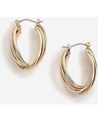 TOPSHOP - Vintage Hoop Earrings - Lyst