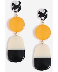 TOPSHOP - And Marble Stone Drop Earrings - Lyst