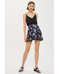 Wyldr - Rosa - Navy And Pink Floral Skirt By - Lyst