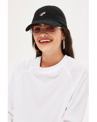 TOPSHOP - Rainbow Embroidered Cap - Lyst
