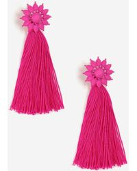TOPSHOP - Flower Tassel Drop Earrings - Lyst