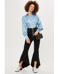 TOPSHOP - Stitch Detail Mermaid Trousers - Lyst