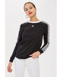 adidas - Three Stripe Long Sleeve T-shirt By - Lyst