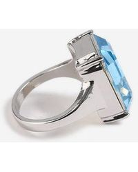 TOPSHOP - large Stone Ring - Lyst
