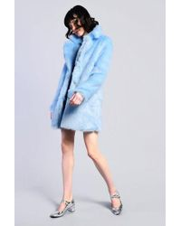 Glamorous - lace Lined Faux Fur Coat By - Lyst