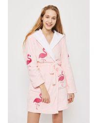 TOPSHOP - Flamingo Novelty Robe - Lyst