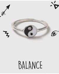 TOPSHOP - Balance Ying Yang Ring - Lyst
