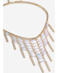 TOPSHOP - sequin Stick Collar Necklace - Lyst