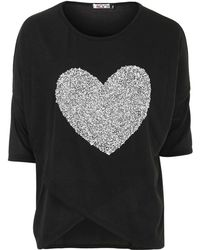 Wal-G - Embelished Heart Top By - Lyst