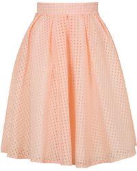 Wal-G | Organza Gingham Midi Skirt By | Lyst