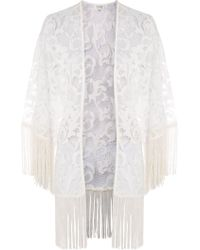 Wyldr | Embrace Ivory Large Floral Kimono By | Lyst