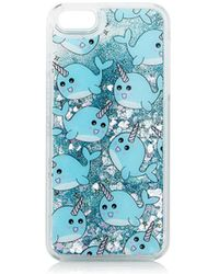 TOPSHOP - Glitter Narwhal Iphone 5 Case - Lyst