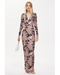 Hope and Ivy - long Sleeve Floral Print Maxi Dress By Hope & Ivy - Lyst