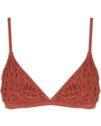 Flook - Eloisa Crochet Bikini Top By Flook - Lyst