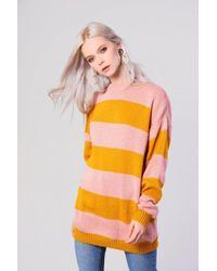 Glamorous - oversized Striped Knitted Jumper By - Lyst