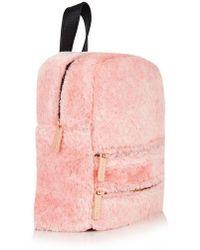 Skinnydip London - molly Pink Fluff Backpack By Skinnydip - Lyst
