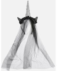 TOPSHOP - Halloween Dark Unicorn Veil - Lyst