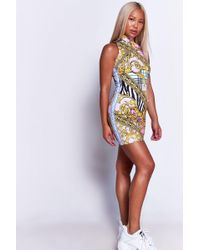 Jaded London - Pastel Vintage High Neck Bodycon Dress By - Lyst