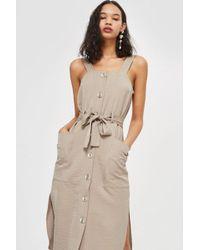 TOPSHOP - Petite Utility Pinafore Dress - Lyst