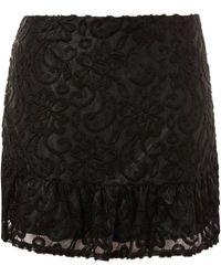 Wyldr - Sedona Black Textured Mini Skirt By - Lyst