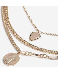 TOPSHOP - chain Multirow Necklace - Lyst