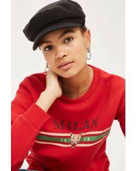 TOPSHOP - Petite Milan Sweatshirt - Lyst